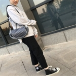 Casual Multifunctional Single Shoulder Crossbody Handbag (Black)
