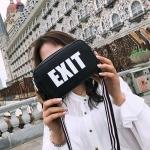 Casual PU Leather Shoulder Bag Messenger Bag Ladies Handbag (Black)