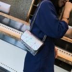 Mesh Casual Shoulder Bag Messenger Bag Ladies Handbag (Colour Silver)