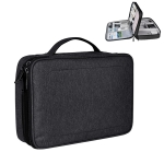 Large Nylon Waterproof Box Type Multi-function Storage Bag for iPad, Size: 30 X 22 X 8cm (Black)