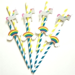 40PCS 3D Trojans Cloud Paper Straws Birthday Wedding Party Decorations Cocktail Paper Straw
