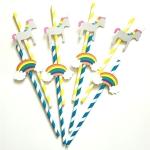 40PCS 3D Trojans Cloud Paper Straws Birthday Wedding Party Decorations Cocktail Paper Straw