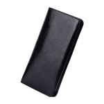 5.5 Inch Dual Mobile Phones Crazy Horse Pattern Microfiber Leather Case for iPhone 6s Plus, with Wallet & Card Slot