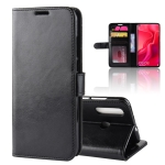 R64 Texture Horizontal Flip Leather Case For Huawei nova 4, with Holder & Card Slots & Wallet (Black)