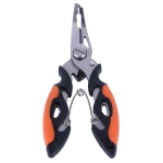 HENGJIA QT013 Multifunctional Stainless Steel Jaw Fishing Pliers Scissors Hook Removal Tool Line Cutter Fishing Tackle (Orange)