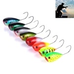 HENGJIA PO036 8PCS 8cm/13g Big Mouth Single Hook Hitting Water Wave Hard Bait Lure Outdoor Fishing Gear Lure Fishing Bait Fishing Tackle