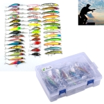 HENGJIA Set002 43 PCS Sequin Set Metal Sequins False Bait Fresh Sea Bass Fishing Bait Set, Length: 5 to 10.5cm, Boxed