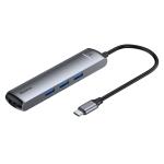 Baseus CAHUB-J0G Mechanical Eye 6 in 1 HDMI / USB 3.0 x 3 /RJ45 / PD to USB-C / Type-C Smart HUB Docking Station