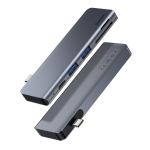 Baseus CAHUB-K0G Harmonica 5 in 1 USB 3.0 x 2 + SD + TF + USB-C / Type-C PD Smart HUB Adapter