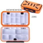 HENGJIA qt020 Waterproof Multifunction Fishing Tool Gear Storage Hooks and Fishing Bait Box , M Size: 16 x 9 x 5cm