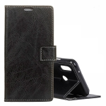 Retro Crazy Horse Texture Horizontal Flip Leather Case for ASUS ZenFone Max (M2)ZB631KL, with Wallet & Holder & Card Slots & Photo Frame (Black)
