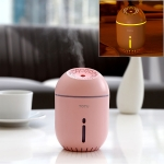 TOTUDESIGN FGHD-002 Fat Cup?series Portable Mute Desktop Air Humidifier with Night Light, Capacity: 350ml, DC 5V (Pink)