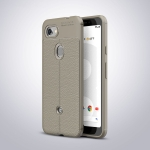 Litchi Texture TPU Shockproof Case for Google Pixel 3 Lite (Gray)