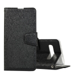 Silk Texture Horizontal Flip Leather Case for Galaxy S10 Plus, with Holder & Card slots & Wallet & Photo Frame (Black)