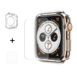 ENKAY Hat-Prince 2 in 1 TPU Semi-clad Protective Shell + 3D Full Screen PET Curved Heat Bending HD Screen Protector for Apple Watch Series 4 44mm