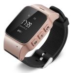 D99 0.96 inch OLED Screen Smartwatch for the Elder IP54 Waterproof, Support GPS + LBS + WiFi Positioning / Two-way Dialing / Voice Monitoring / One-key First-aid / Wrist off Alarm / Safety Fence (Rose Gold)