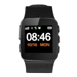 D99+ 1.22 inch HD LCD Screen GPS Smartwatch for the Elder Waterproof, Support GPS + LBS + WiFi Positioning / Two-way Dialing / Voice Monitoring / One-key First-aid / Wrist off Alarm / Safety Fence (Black)