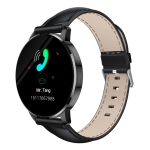 OUKITEL W3 1.3 inch TFT Color Screen Smartwatch IP67 Waterproof, Black PU Watchband, Support Call Reminder / Heart Rate Monitoring / Sedentary Reminder / Sport Mode / Sleep Monitoring (Black)