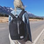 Leisure Fashion Backpack Handbag(Black)