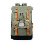 High Capacity Leisure Fashion Double Shoulders Bag Backpack (Army Green)