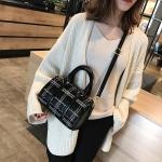 Casual PU Shoulder Bag Ladies Handbag Messenger Bag (Grey)