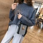 Casual Wool Shoulder Bag Ladies Handbag Messenger Bag (Black)