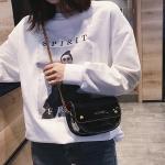 Leisure Fashion PU Leather Shoulder Bag Messenger Bag Handbag (Black)