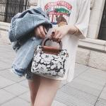 Leisure Fashion Lace Shoulder Bag Messenger Bag Handbag (Black)
