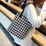 Leisure Fashion Wool Shoulder Bag Handbag (Black)