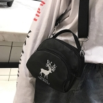Leisure Fashion Deer Pattern Nylon Slant Shoulder Bag Handbag