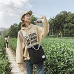 Leisure Fashion Canvas Slant Shoulder Handbag (Black)