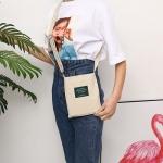 Leisure Fashion Canvas Slant Shoulder Handbag (Grey)