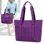 Leisure Fashion Nylon Waterproof Shoulder Bag(Purple)