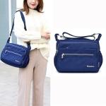 Leisure Fashion Nylon Waterproof Slant Shoulder Bag(Dark Blue)