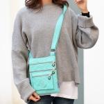 Leisure Fashion Nylon Waterproof Slant Shoulder Bag(Green)