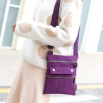 Leisure Fashion Nylon Waterproof Slant Shoulder Bag(Purple)