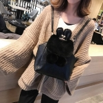 Multi-function Leisure Fashion PU Leather Slant Shoulder Bag Double Shoulders Bag(Black)