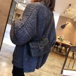 Leisure Fashion PU Leather Slant Shoulder Bag(Black)