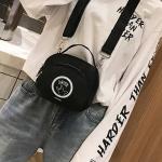 Leisure Fashion Round Shape Pattern Nylon Slant Shoulder Bag Handbag