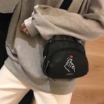 Leisure Fashion Heart Pattern Nylon Slant Shoulder Bag Handbag