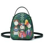 Sen Series Leisure Fashion PU Leather Slant Shoulder Bag Handbag (Green)