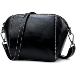 Leisure Fashion PU Leather Slant Shoulder Bag (Black)