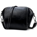 Leisure Fashion PU Leather Slant Shoulder Bag (Black)