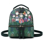 Multi-function Leisure Fashion Creative Printing Design Shoulder Bag Handbag Double Shoulders Bag (Green)