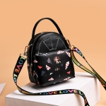 Cartoon Pattern Leisure Fashion Waterproof Slant Shoulder Bag Handbag (Black)