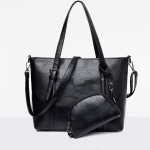 Leisure Fashion Shoulder Bag Handbag, with Wallet (Black)