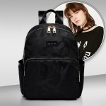Leisure Fashion Waterproof Oxford Cloth Double Shoulders Bag, with USB charging interface (Black)