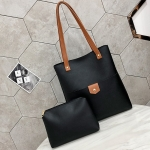Leisure Fashion PU Leather Shoulder Bag Handbag (Black)