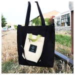 Leisure Fashion Canvas Slant Shoulder Bag Handbag (Black)