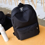 Multi-function Leisure Fashion Nylon Double Shoulders Bag Backpack (Black)